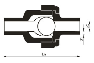 Non-return ball valves for butt welding